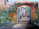 Painting of Mission Garden