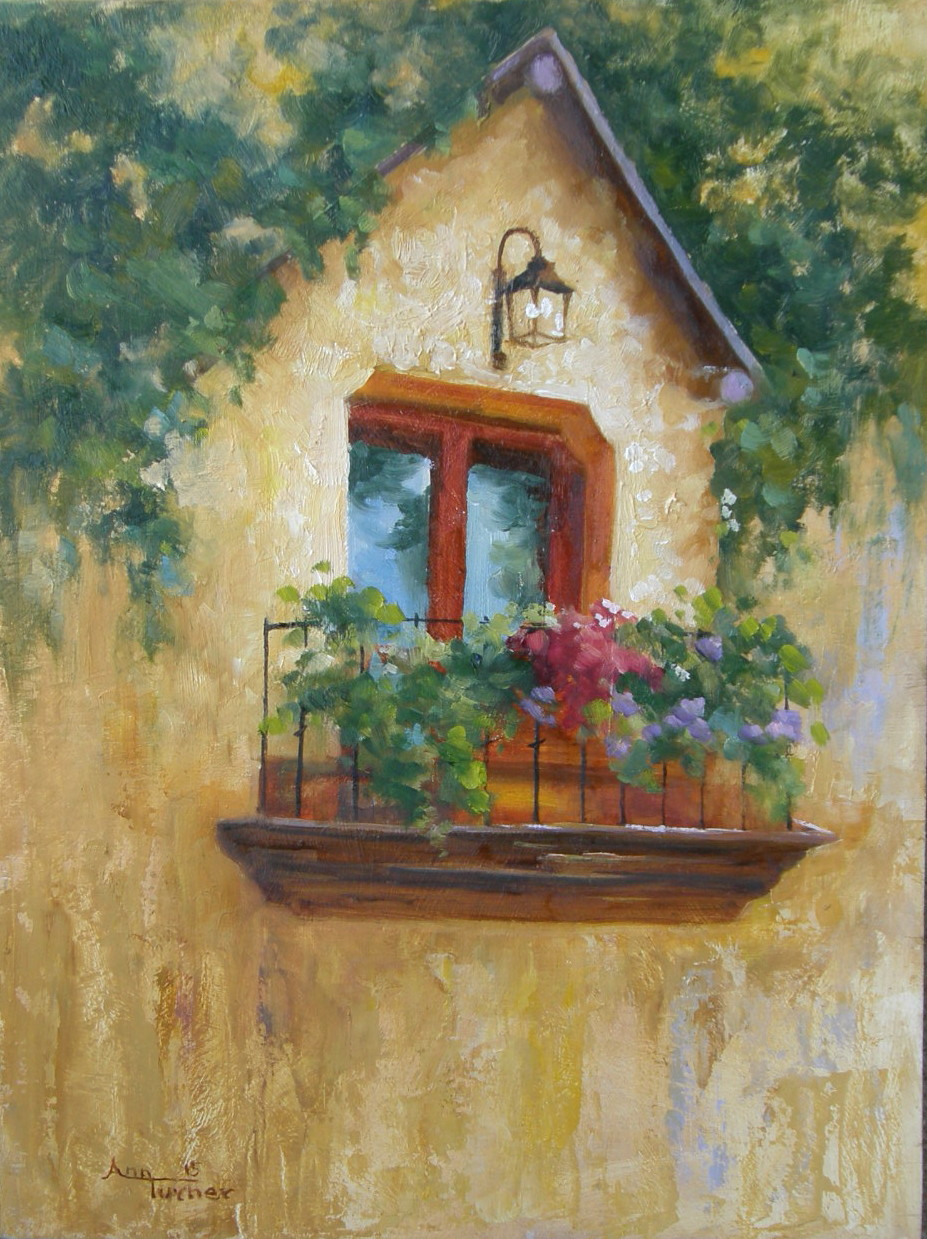 Painting of Tuscan Balcony