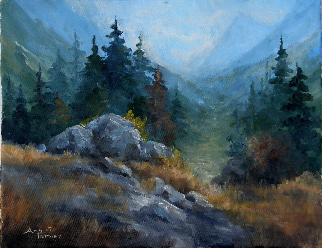 Painting of Mountain Pass