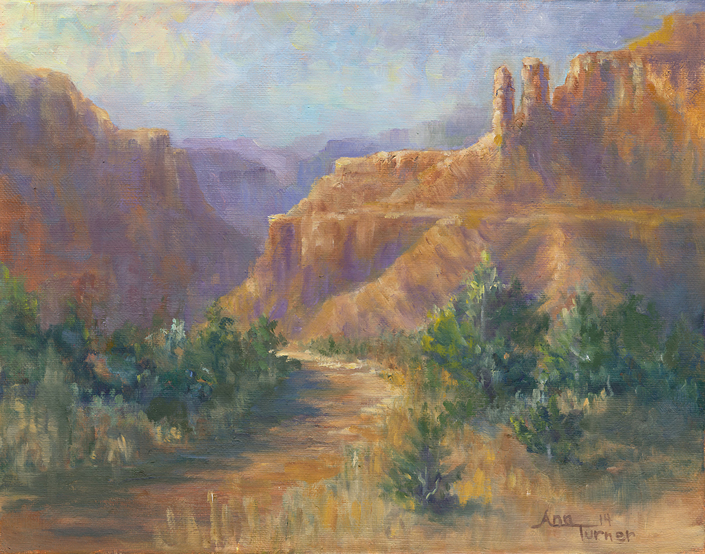 Painting of Red Canyon Trail