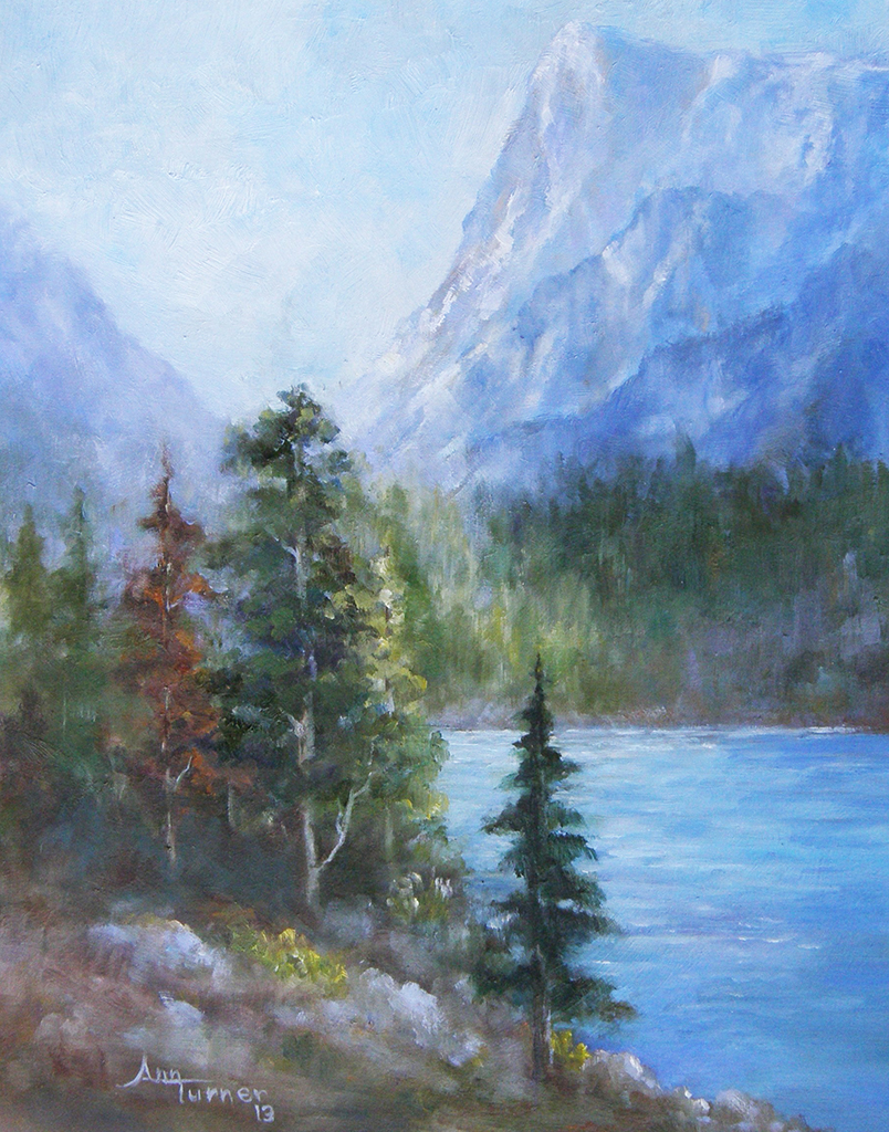 Painting of Sawtooth Lake