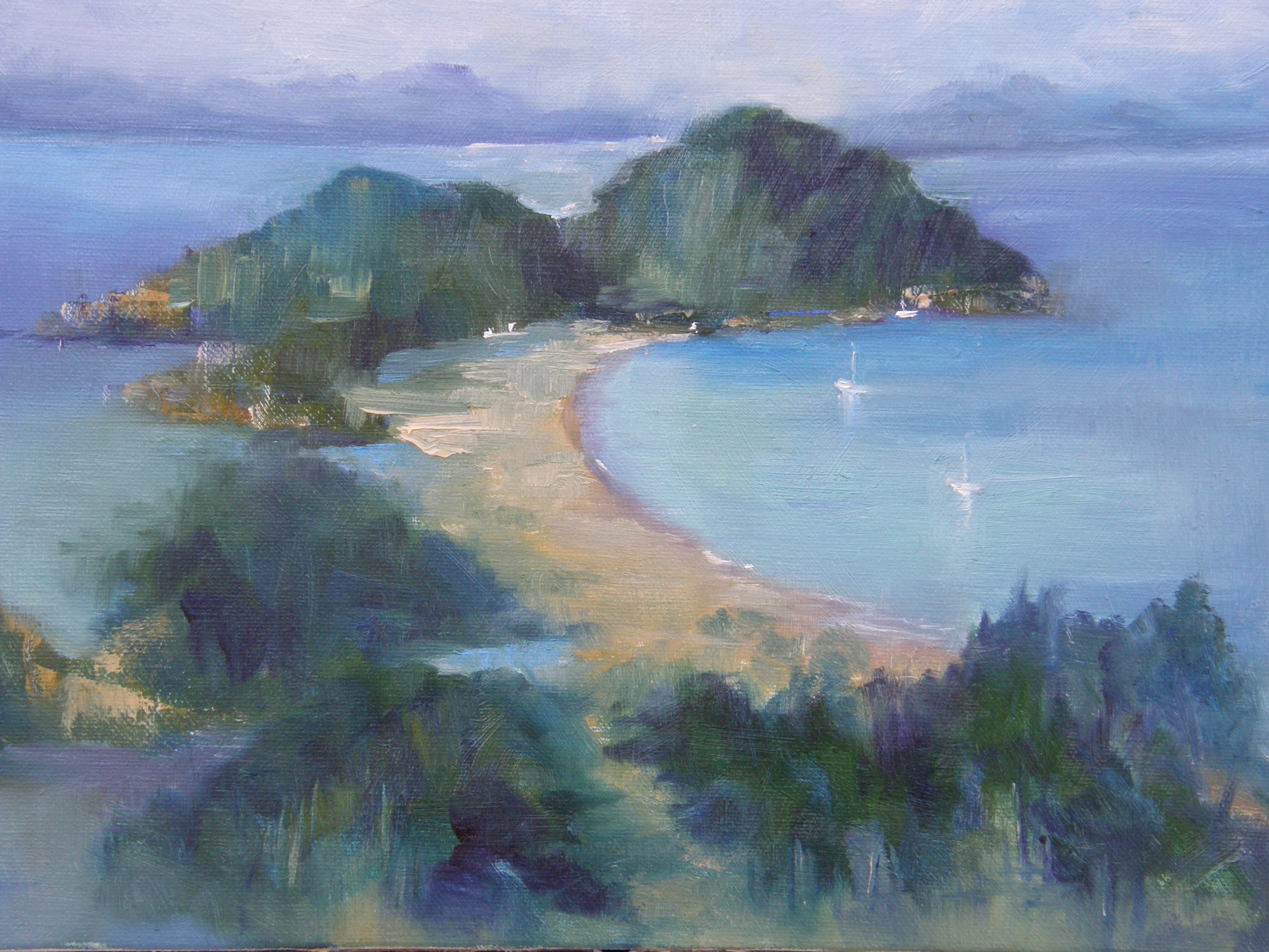 Painting of Robber Bay